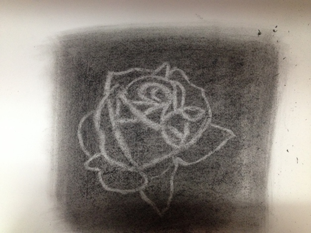 Charcoal Sketch of a Rose